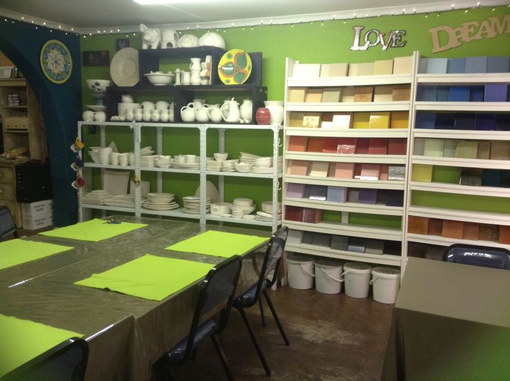 New wall colour lime fizz. Makes Lisa B's Art studio look fresh and new.