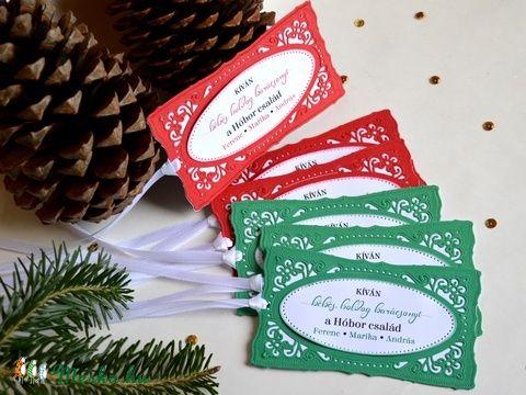 Ajándékkísérő karácsonyi perszonalizált egyedi