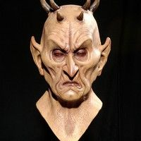 Wish | Devil Tricky Terrorist Headgear Horror Mask Creepy Costume Party Cosplay Props Scary Mask for Halloween (Size: One Size)