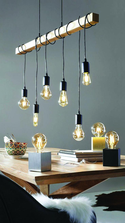Beleuchtungsideen Fur Das Buro Zu Hause Um Ihren Arbeitsplatz Aufzuhellen Burobeleuchtung Esszimmer Beleuchtung Rustikale Leuchten