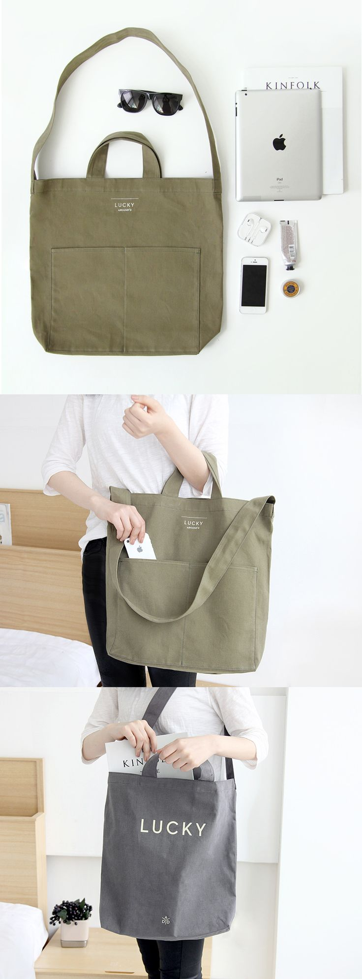 It's a tote...It's a shoulder bag...No, it's both! This Lucky Pocket Shoulder Bag is super spacious and will be whatever you want it to be. Shop, travel, and explore with this sturdy bag by your side. ^.~*