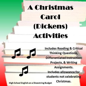 A Christmas Carol Activity Bundle (Charles Dickens)- PDF | Christmas carol, Writing assignments ...