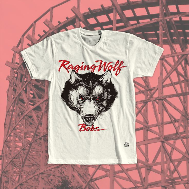 """Geauga Lake T-Shirt. """"The Legend of Terror Returns"""" Raging Wolf Bobs was a classic rollercoaster at Geauga Lake - a now permanently closed amusement park in Aurora, Ohio. The opening date of the coaster was in 1988 and was celebrated by coaster fans until its closing in 2007. It was a wooden style ride with a chain lift hill modeled after a roller coaster called Bobs out of Riverview Park in Chicago. After years at Geauga Lake and Six Flags, Raging Wolf Bob was dismantled #geaugalake"""