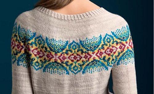 Byzantine Pullover stranded knitting pattern byTanis Lavallee on Ravelry