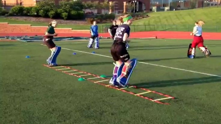 Field Hockey Goalie Warm Up Ladder Drill 1
