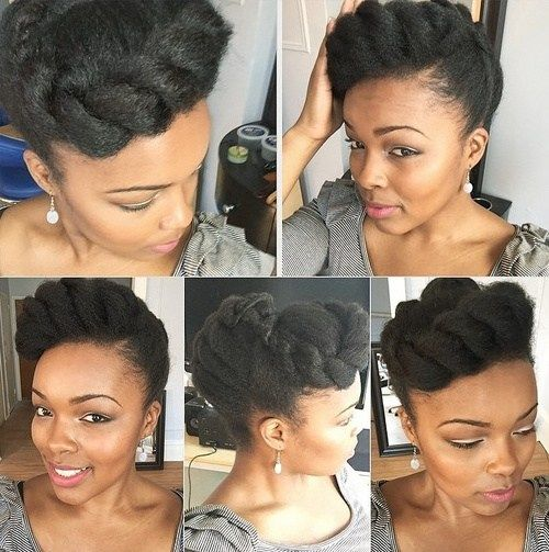 sophisticated braided updo hairstyle