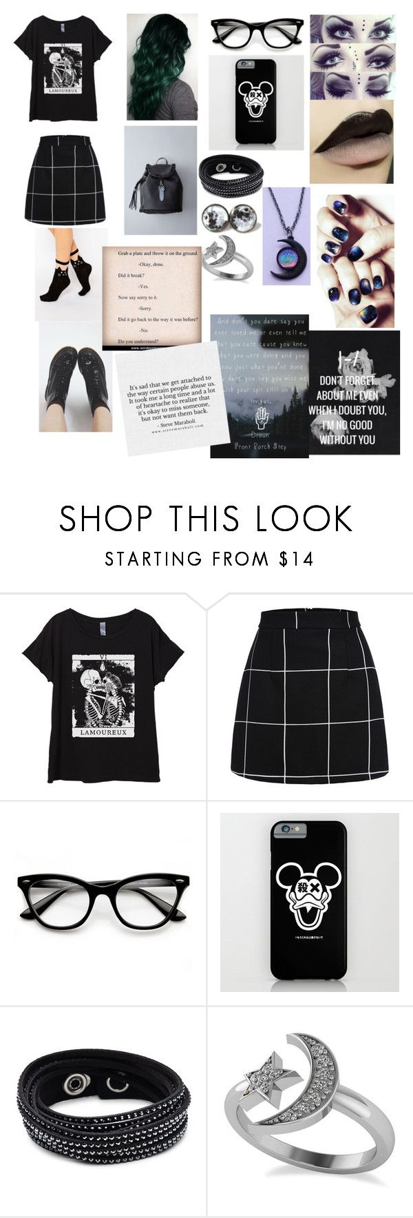 """""""Ex Friendship Abuse"""" by sweetheart-the-moonbear ❤ liked on Polyvore featuring WithChic, ZeroUV, Swarovski and Allurez"""