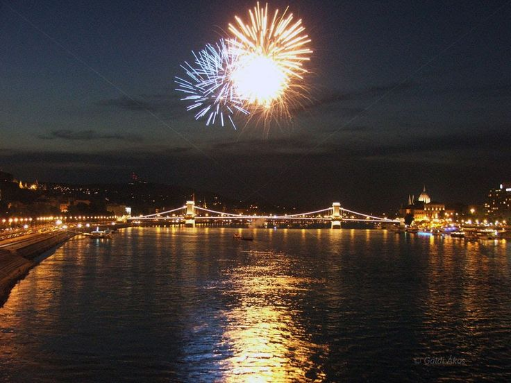 Firework Budapest,Hungary 20,august Saint Stephen's Day