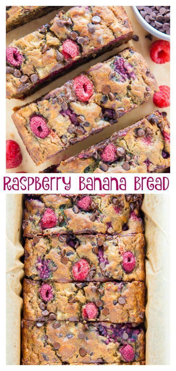 Healthy Raspberry Chocolate Chip Banana Bread Recipe Chocolate