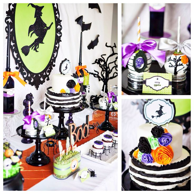 Wickedly sweet Halloween witch themed party by Banner Events on Kara's Party Ideas!