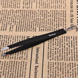 $2.96 Makeup Tools Dual-purpose Steel Black Eyebrow Tweezers