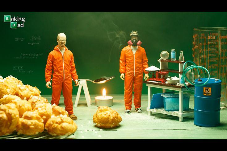 -Nicolas Knepper (photographe) & Création Original Elisabeth Biscarrat- (Gagnante de l'Emission Masterchef. 2011)-  *Holly Food  ' Baking Bad'  *chouquettes crystal sugar