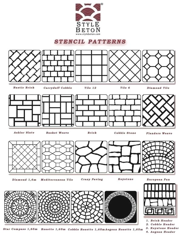 Stamped Concrete Patterns Design Ideas It May Be A Sensible Practice To Be Certain All The Floorin Stamped Concrete Patterns Stamped Concrete Stencil Patterns