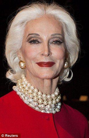 Worlds oldest model . . .'Carmen'!  How lovely she is . . .wearing her strand of pearls!