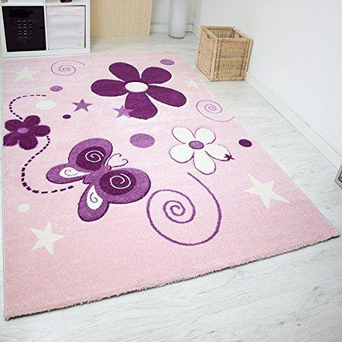 Schmetterling Kinderzimmer   Moderner Kinder Teppich ...