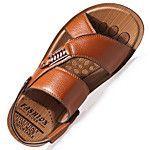 Hombre Zapatos Cuero Primavera Verano Otoño Confort Suelas con luz Botas de Moda Sandalias Volantes Para Casual Fiesta y Noche Negro 2017 - $72771