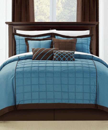 Blue Rhodes Comforter Set