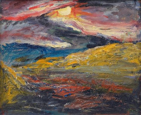 Mauno Markkula: Kuutamo, öljy kankaalle, 39x46 cm - Artnet
