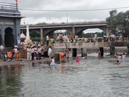 Triveni Sangam in Narmada River