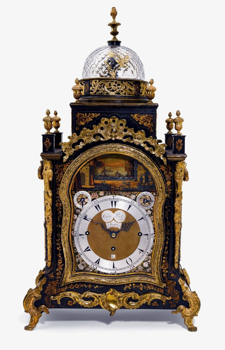 A gilt-mounted black japanned musical automaton table clock for the Turkish market George Prior London circa 1785 & 551 best Horloges images on Pinterest | Antique clocks Antique ...