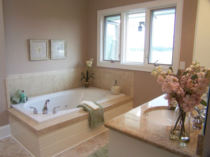 Staging Bathrooms. Towels, orchid, soaps.