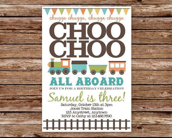 Printable Choo Choo Train Birthday Party by thepaperblossomshop, $12.50