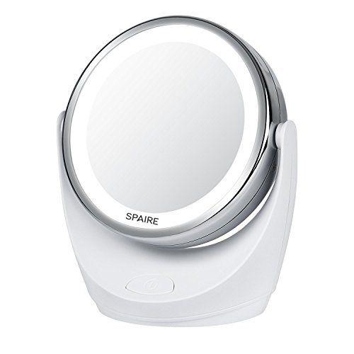 Spaire BE-H17 Miroir Maquillage: Miroir de Double Face: 7X miroir grossissant pour s'assurer que chaque détail est en place et il n'y a pas…