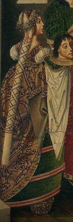 La decapitación de San Juan Bautista (det.), Maestro Miraflores, 1490-1500, Museo del Prado.
