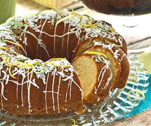 Pina Colada Poundcake - The blend of pineapple, lime, and coconut in
