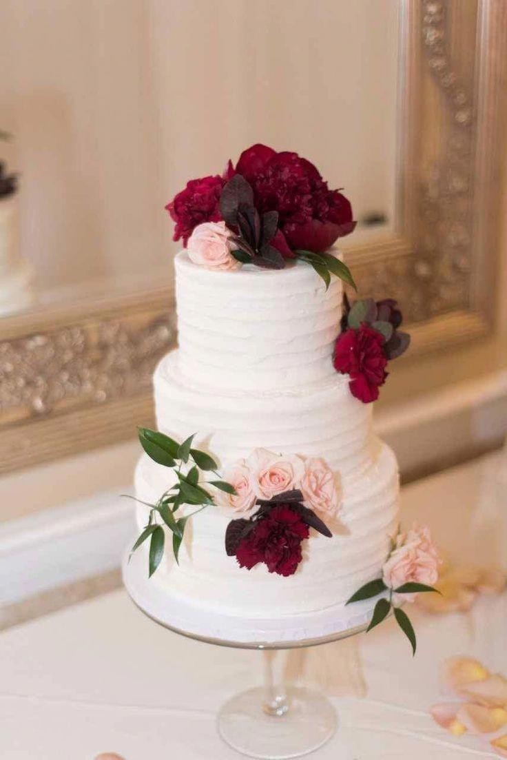 Cake For Burgundy Weddings Burgundy Wedding Cake Blush Wedding Cakes Simple Wedding Cake