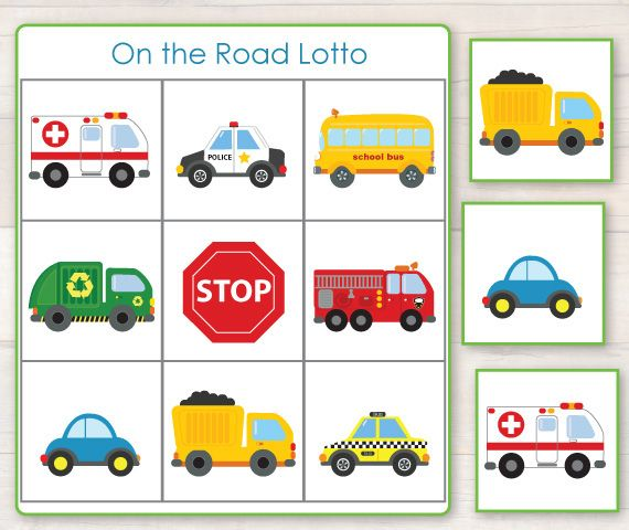 Busy Little Bugs - Lotto Game from our On the Road Learning Pack