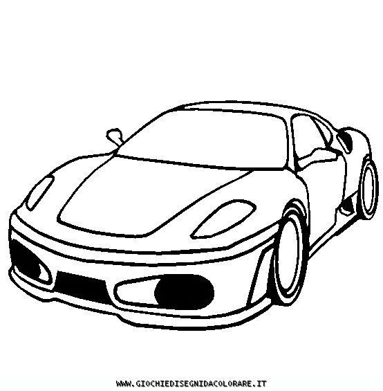 Ferrari F430 Disegni Da Colorare Mezzi Di Trasporto