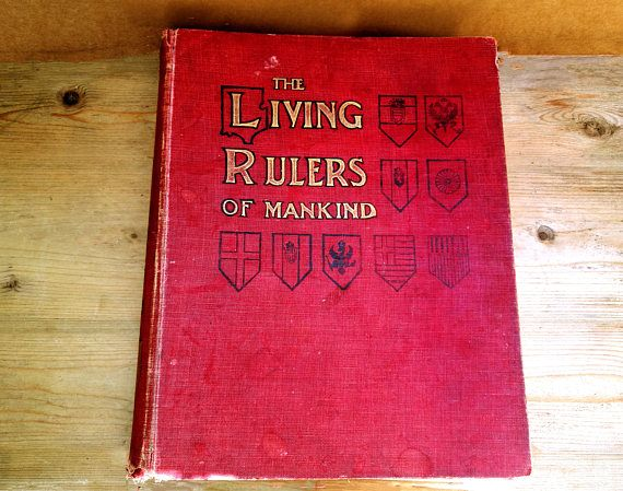 Antique book c1902 . History book . Royalty book . The Living