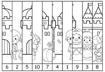 fairy tale skip counting puzzles cut and paste skip counting in 1s 2s 5s and 10s. Black Bedroom Furniture Sets. Home Design Ideas