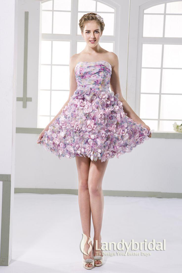 ウェディングドレス ミニ スカートに花びらいっぱい ビスチェ 二次会ドレス JUX015005