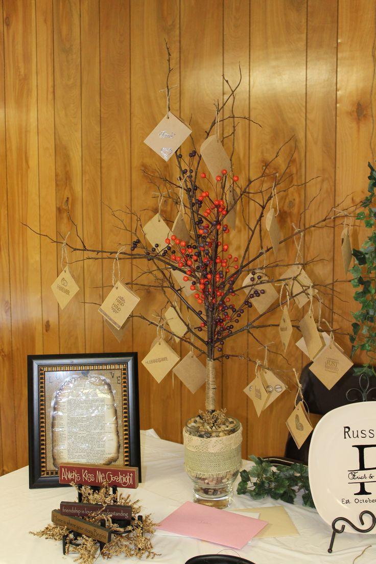 rustic bridal shower money tree bridal shower