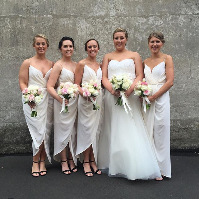 Beautiful Jessica and her girls ready to get married today!  #gmphotographics #professionalweddingphotography #bridalparty #instabride #wedding #love #weddingphotography #bride #bridesmaid #flowers  Dress @marrymebridal_ Flowers @mrcookflowers Video @sodafilms Cars @rollupinarolls Brides shoes @Valentino