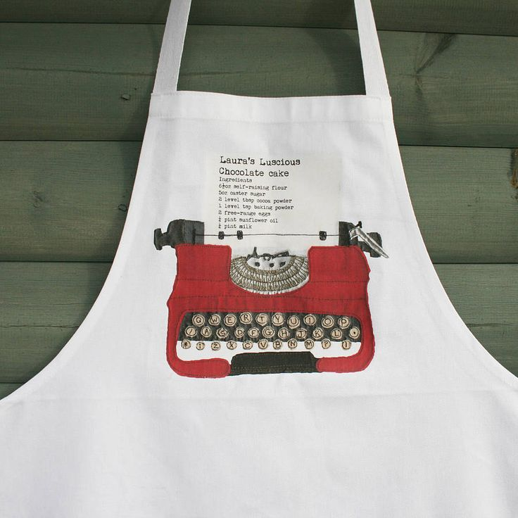 personalised recipe apron by snapdragon | notonthehighstreet.com