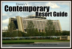 Disney's Contemporary Resort Guide - room information, dining locations, resort map, photos, and tips. A Walt Disney World deluxe resort.