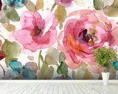 Macro Garden mural wallpaper in-room view