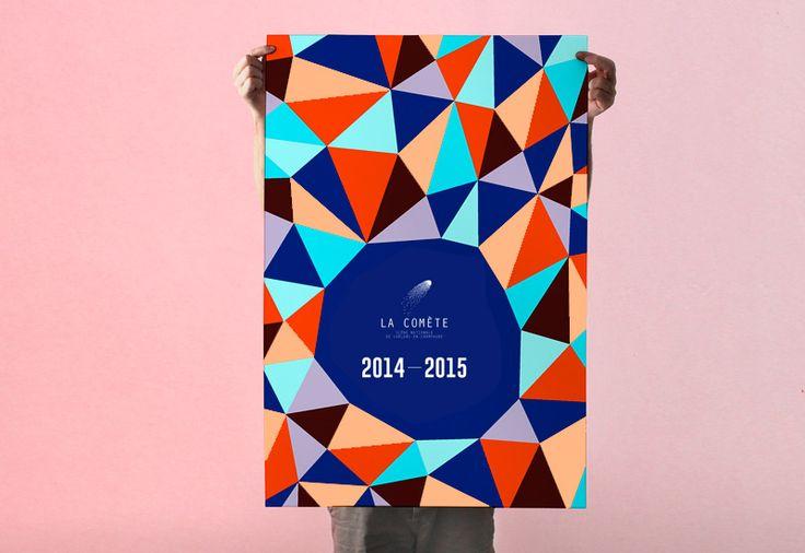 Les produits de l'épicierie, design graphique, La comète, saison 2014/2015, Châlons-en-Champagne