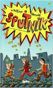 OBRECHT, BETTINA. Sputnik (J-N OBR spu) Sputnik aparece un día en el vecindario. Lleva un impermeable azul y botas de agua de color rosa, aunque no llueva, y afirma que viene de otro planeta. Adrián se lo cree, pero su hermana mayor Ana y su amigo Karim saben  que los extraterrestres no existen. ¿Quién es Sputnik ? Los encuentros con Sputnik dan lugar a profundas y divertidas reflexiones sobre extraterrestres, la amistad, la solidaridad y la actitud ante el diferente.