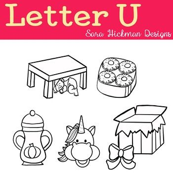 Letter U Clipart For Your Worksheets And Resources This Set