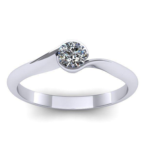 Inelul este realizat din aur alb 14k, greutate: ~1.50gr. Produsul are in componenta sa: 1 x diamant, dimensiune: ~3.00mm, greutate: 0.10ct , culoare: G, claritate: VS2, forma: round