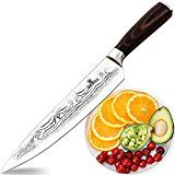 #5: Soufull Chef Knife 8 inches Japanese Stainless Steel Gyutou Knife Professional Kitchen Knife with Ergonomic Handle