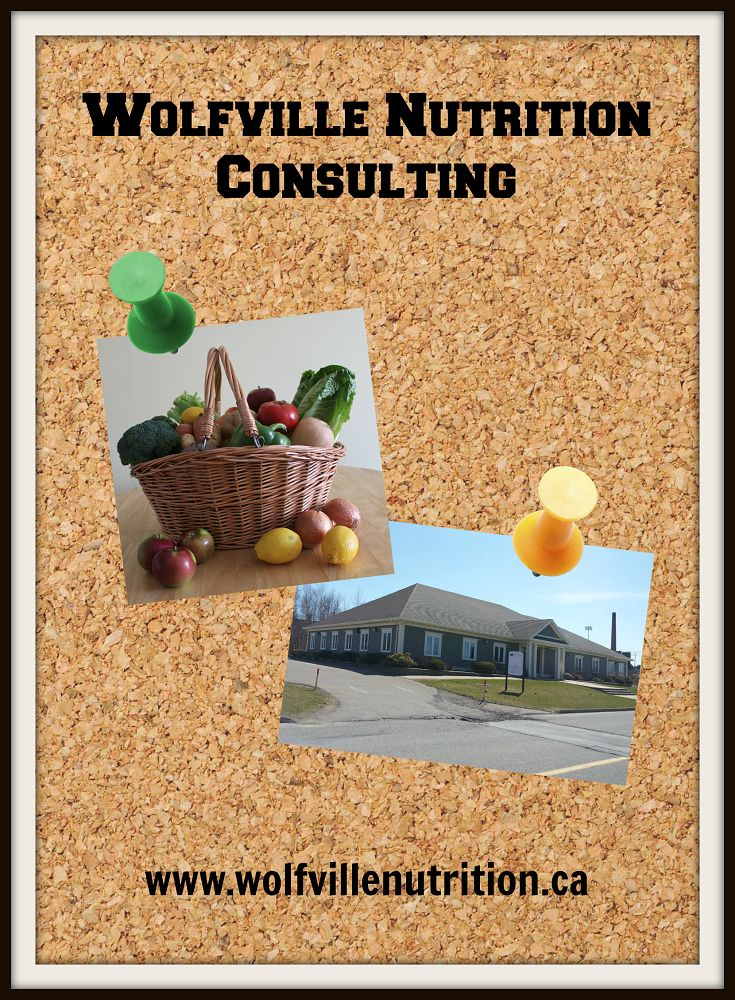 Wolfville Nutrition Consulting corkboard
