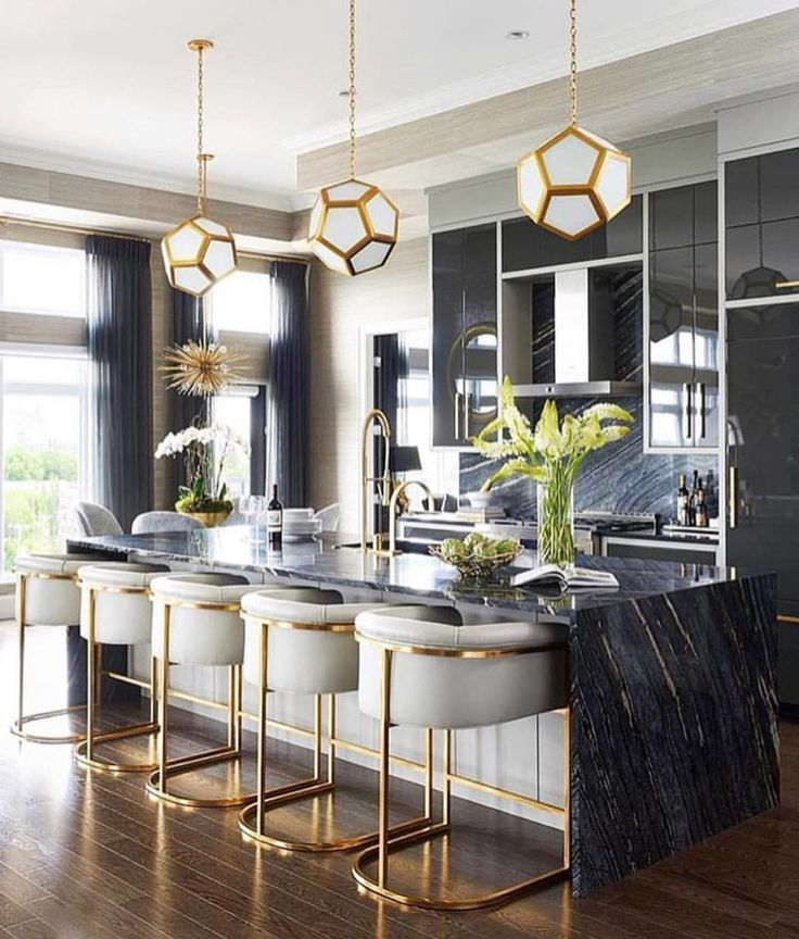 Black and gold kitchen Black Gold kitchen