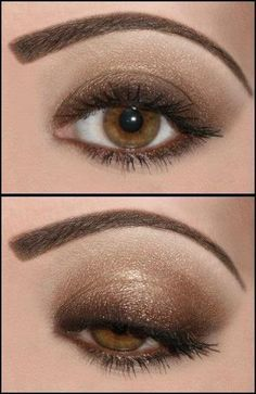 My eyes have a bit more green in them but that would contrast with the gold well. Def gonna try this:
