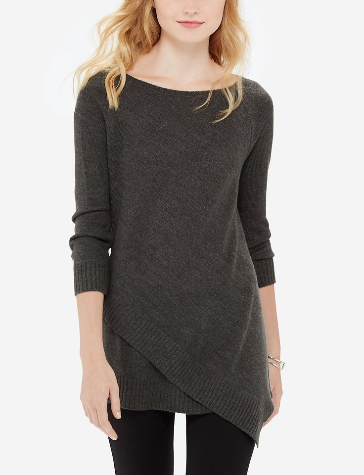 Asymmetrical Tunic Sweater   Long Layered Look Sweater   THE LIMITED I like the asymmetry of this sweater- KMP