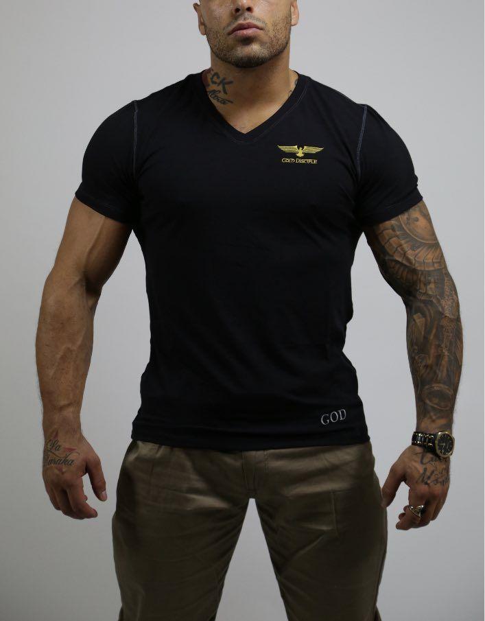 LE CLASSIQUE - T-shirt Viscose Col V Black $50,99 CAD